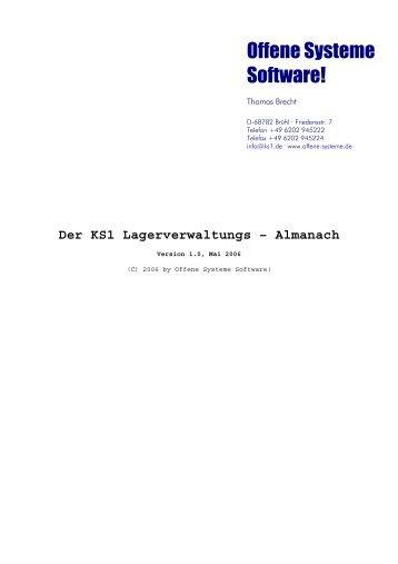 KS1-Lageralmanach - Offene Systeme Software!