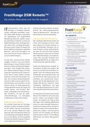 FrontRange DSM Remote™ - OFF LIMITS IT Services GmbH