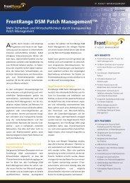 FrontRange DSM Patch Management - OFF LIMITS IT Services GmbH