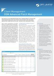 DSM Advanced Patch Management - OFF LIMITS IT Services GmbH