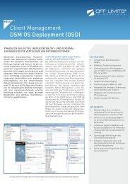 Client Management DSM OS Deployment - OFF LIMITS IT Services ...