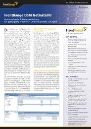 FrontRange DSM NetInstall® - OFF LIMITS IT Services GmbH
