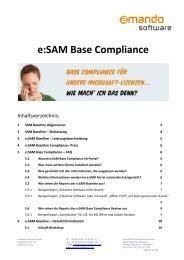 e SAM Base Compliance - OFF LIMITS IT Services GmbH