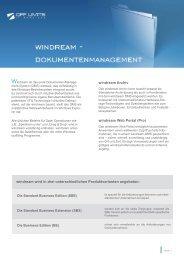 Produktblatt windream - OFF LIMITS IT Services GmbH
