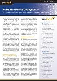 FrontRange DSM OS Deployment™ - OFF LIMITS IT Services GmbH