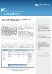Client Management DSM NetInstall - OFF LIMITS IT Services GmbH