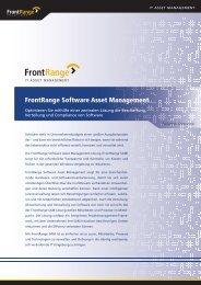 FrontRange Software Asset Management - OFF LIMITS IT Services ...