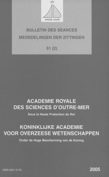 (2005) n°2 - Royal Academy for Overseas Sciences