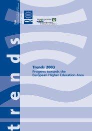 Trends 2003 Progress towards the European Higher Education Area