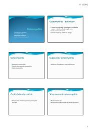 Osteomyelitis - definition Osteomyelitis Suppurativ osteomyelitis ...
