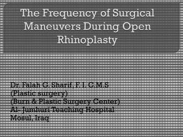 The Surgical Maneuvers Frequency During Open Rhinoplasty - CME