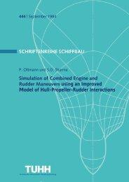 SCHRIFTENREIHE SCHIFFBAU Simulation of Combined Engine ...