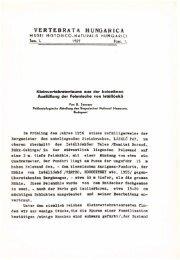 Vertebrata Hungarica 1/1-2. (Budapest, 1959)