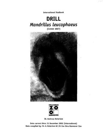 DRILL Studbook - San Diego Zoo Global -- Library