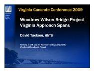 Woodrow Wilson Bridge Project Virginia Approach Spans