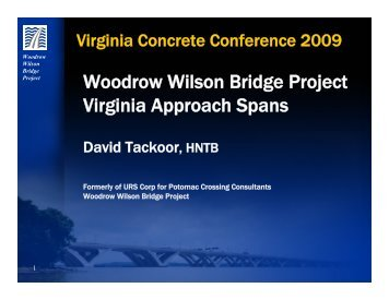 Woodrow Wilson Bridge Project Virginia Approach Spans