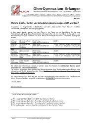 Merkblatt Bücher und Wahlfächer - Ohm-Gymnasium