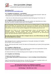Hilfe zum Ausfüllen des Anmeldebogens 2013 - Ohm-Gymnasium