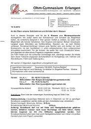 Ohm Gymnasium Erlangen
