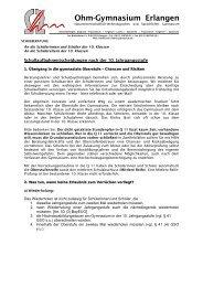10. Klasse Infos zur Oberstufe - Ohm-Gymnasium