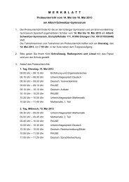 Merkblatt zum Probeunterricht 2013 - Ohm-Gymnasium