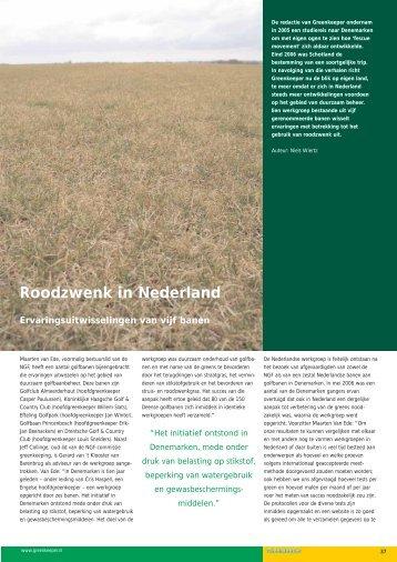 Roodzwenk in Nederland - Duurzaam Golfbaan Beheer