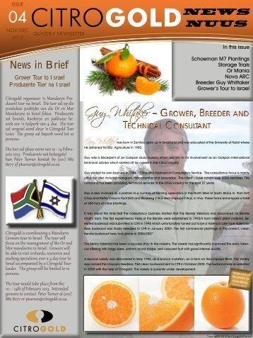 Newsletter Nov Dec 2012 - Citrogold