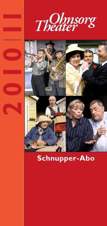 Schnupper-Abo - Ohnsorg Theater