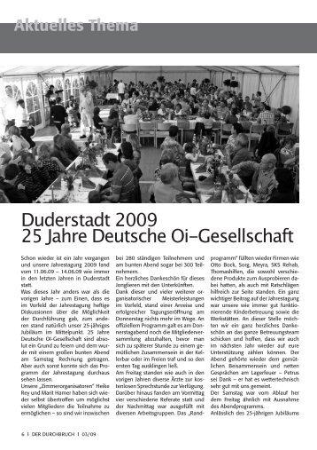 25 Jahre DOIG/Duderstadt