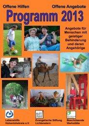 Jahresprogramm 2013 als PDF - Offene Hilfen Öhringen