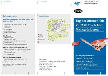 Tag der offenen Tür 21.07.12, 11 – 17 Uhr Markgröningen - Okm.de