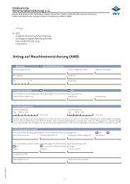 Antrag auf Maschinenversicherung (AMB) - OKV-online