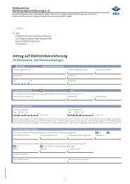 Antrag auf Elektronikversicherung - OKV-online