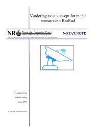 Vurdering av et konsept for mobil snørasradar: RasRad - Norsk ...