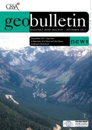 quarterly news bulletin ~ september 2011 - Geological Society of ...