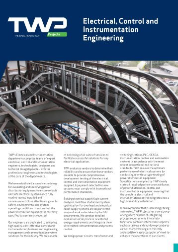 Electrical, Control and Instrumentation Engineering Leaflet - TWP