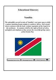 Educational Itinerary Namibia - Casterbridge Tours