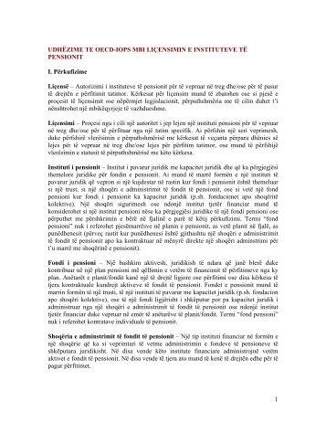 udhëzime te oecd-iops mbi liçensimin e instituteve - AMF :: Autoriteti ...