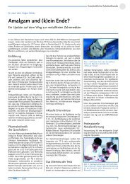 Dr. Holger Scholz in COMED 10/07 - Amalgam Informationen