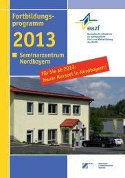 Neues Seminarzentrum Nordbayern in Waldershof ... - eazf