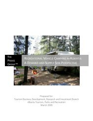 recreational vehicle camping in alberta - Alberta Tourism, Parks and ...