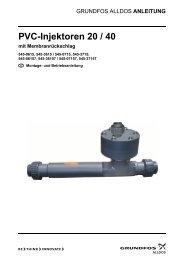PVC-Injektoren 20 / 40 mit Membranrückschlag - Alldos
