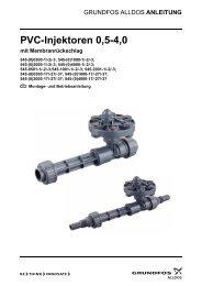 PVC-Injektoren 0,5-4,0 mit Membranrückschlag - Alldos