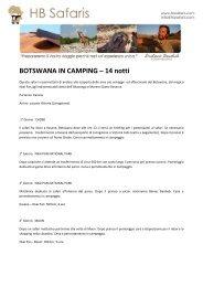 BOTSWANA IN CAMPING - 14 notti - HB Safaris