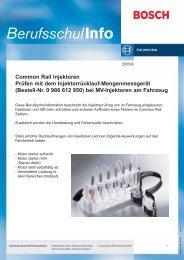 Injektorrücklauf-Mengenmessgerät - Motor-Talk
