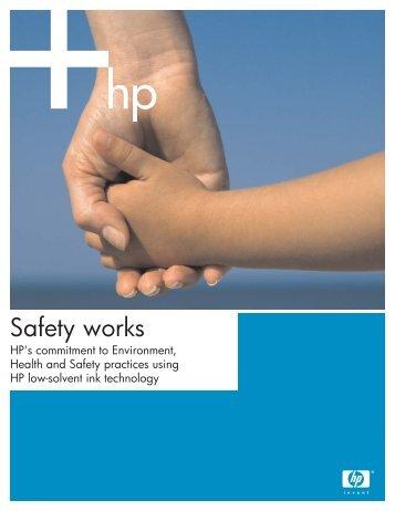 Safety works (607KB PDF) - HP