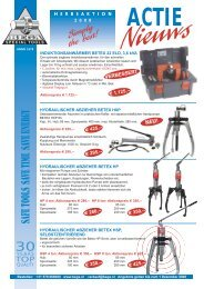 SAFE TOOLS SAVE TIME SAVE ENERGY - Bega Special Tools