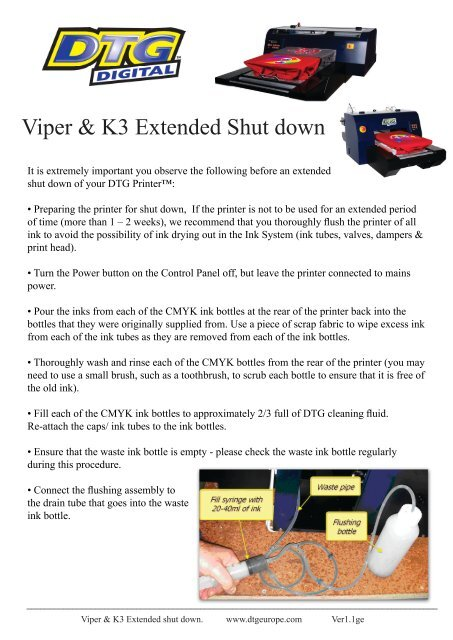 Viper & K3 extended shutdown indd - DTG Digital Europe