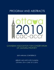 Ottawa - Canadian Association for Conservation