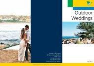 Outdoor Weddings - Gosford City Council
